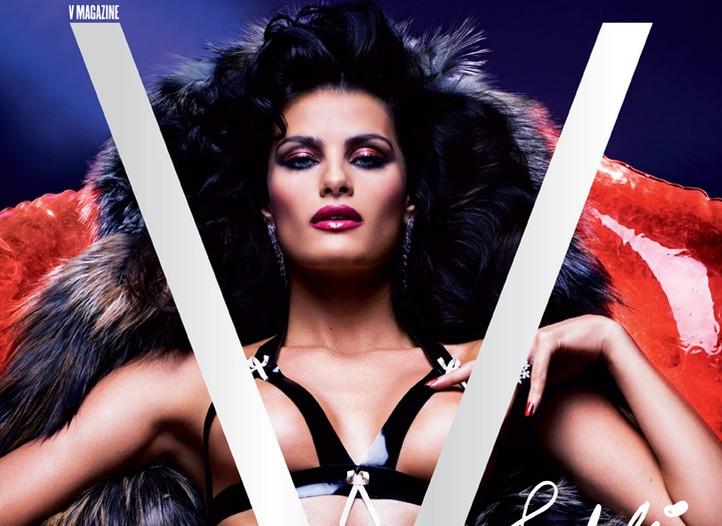 A V Magazine cover shot by Mario Sorrenti.