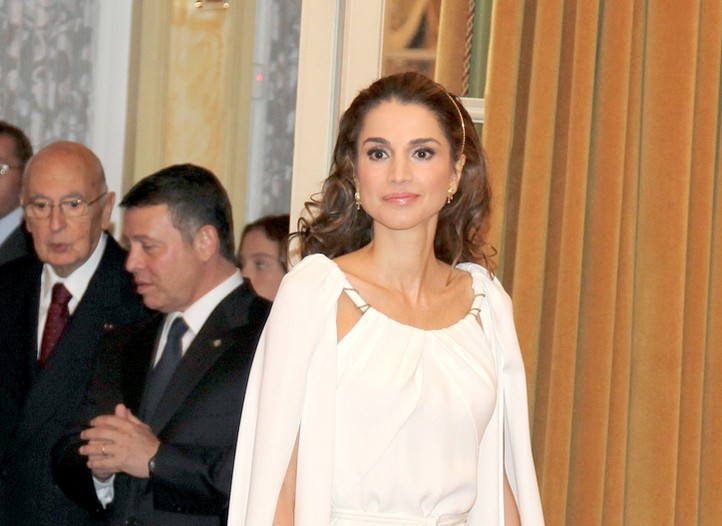 Queen Rania in Stéphane Rolland haute couture.
