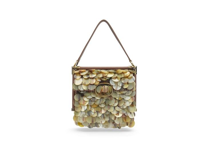 Roger Vivier's horn sequin Miss Viv' bag from its new Rendez-Vous line.