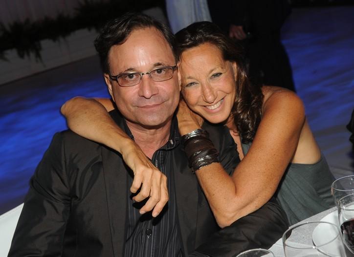Ross Bleckner and  Donna Karan