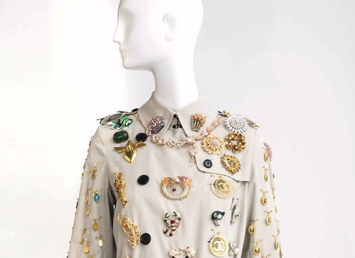 A Burberry trenchcoat customized by Anna Dello Russo
