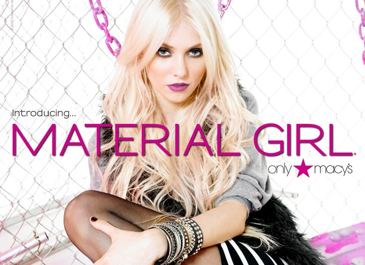 Taylor Momsen is the face of the Material Girl campaign.