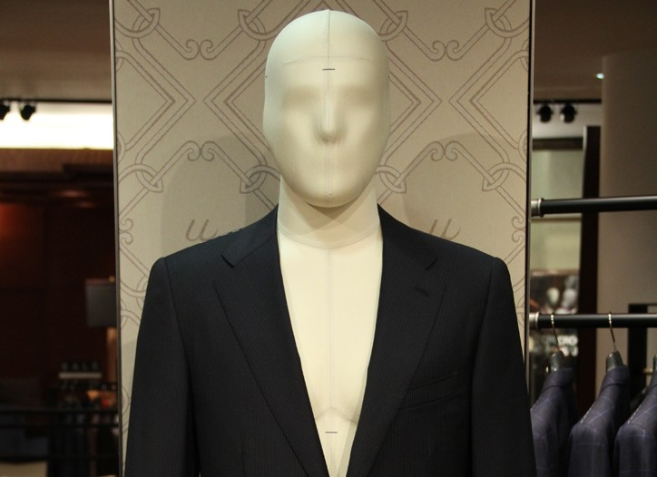The Uman shop was given prime positioning at the store, and its mannequin is based on measurements for today's modern man.