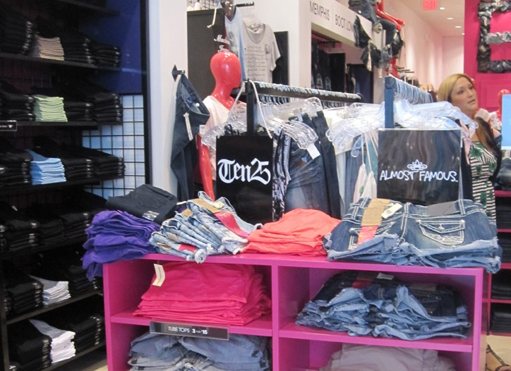 Inside a Blink by Wet Seal store.