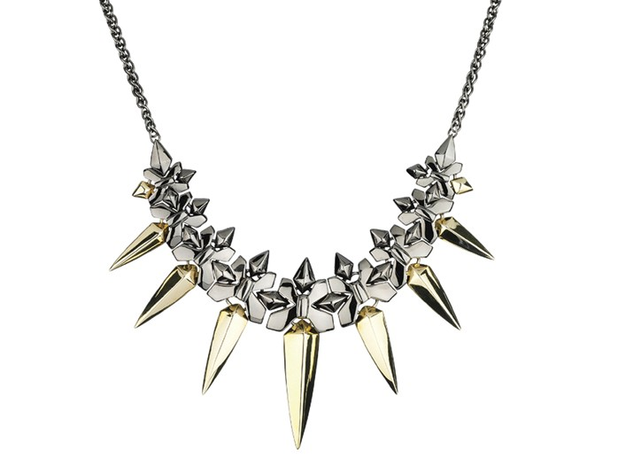 Stephen Webster blackened and gold-plated silver necklace