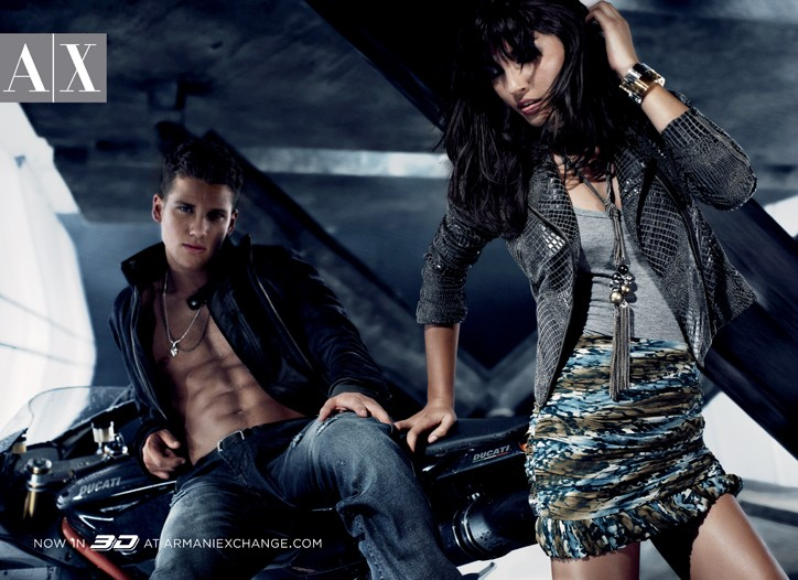 A 3-D image from the fall A|X Armani Exchange campaign.