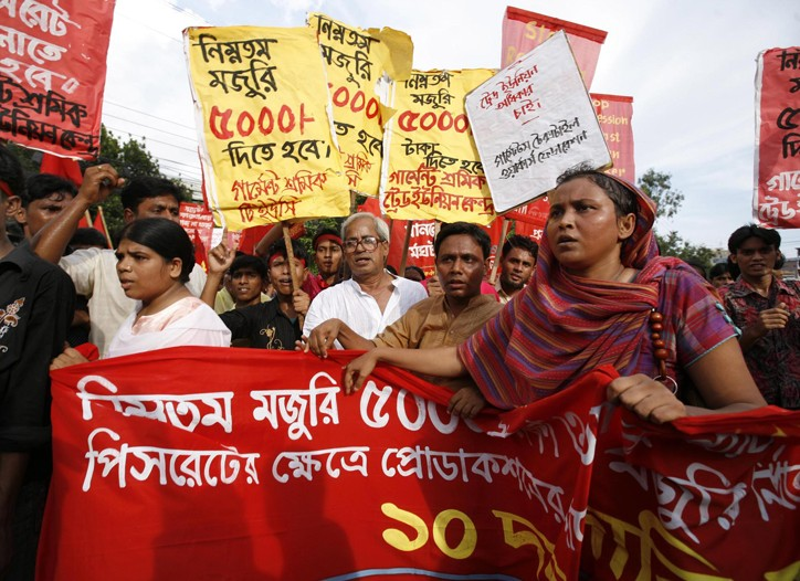 Workers in Bangladesh pushed for, and won, an increase in the minimum wage.
