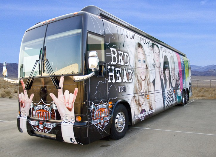 Tigi's tour bus.