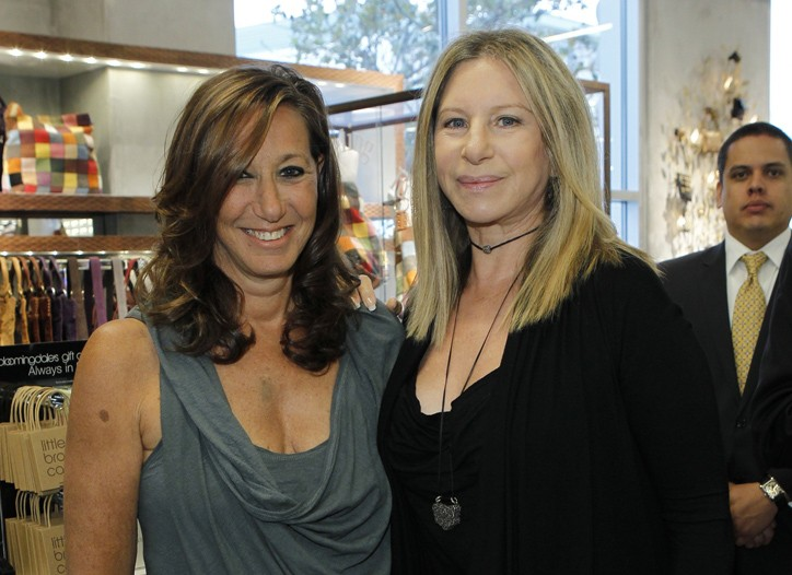 Donna Karan and Barbra Streisand