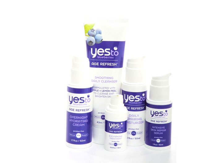 The Yes to Blueberries Age Refresh line.