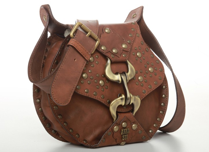 Anna Sui leather and metal bag
