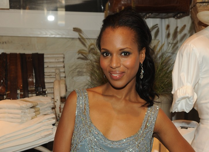 Kerry Washington in Ralph Lauren Collection top and Ralph Lauren Blue Label shorts.
