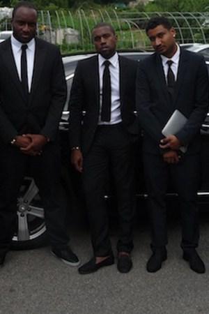 Kanye West's entourage in Dior Homme