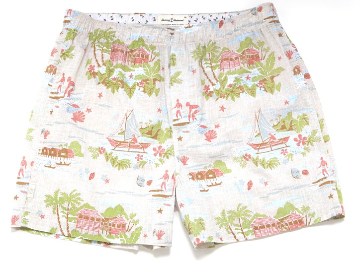 Men's printed woven boxers by Tommy Bahama at The Carole Hochman Design Group.