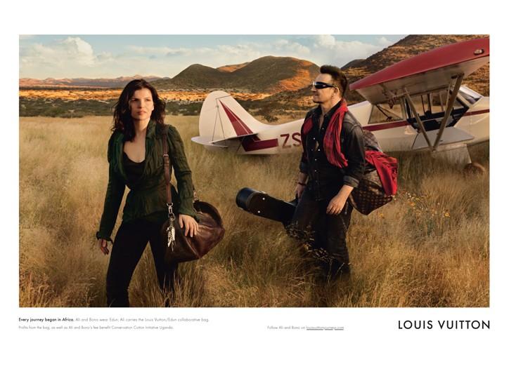 Ali Hewson and Bono in the Louis Vuitton campaign.