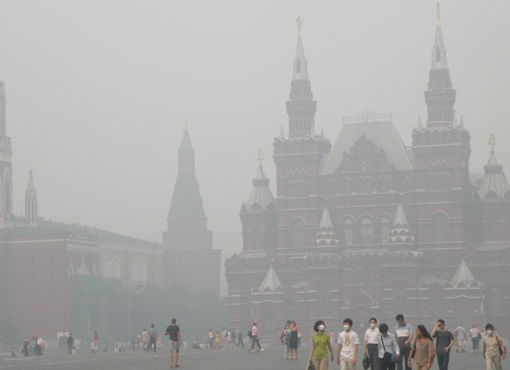 High-end Russian retailers are expected to suffer because of the fires moving closer to Moscow.