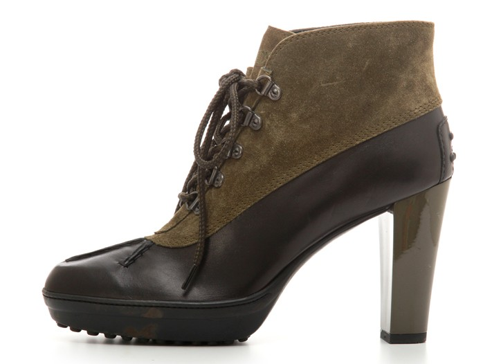 Tod's suede and leather boot