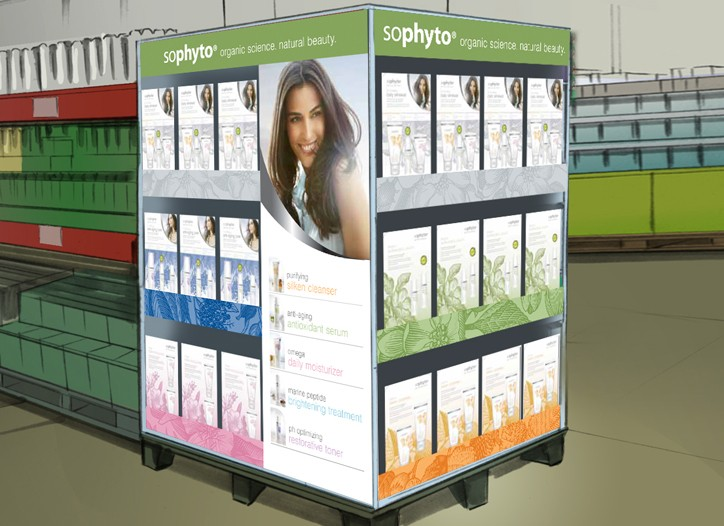 A rendering of the Sophyto display at Sam's Club.
