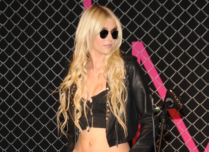 Taylor Momsen at the Macy's launch of Madonna's new line Material Girl.