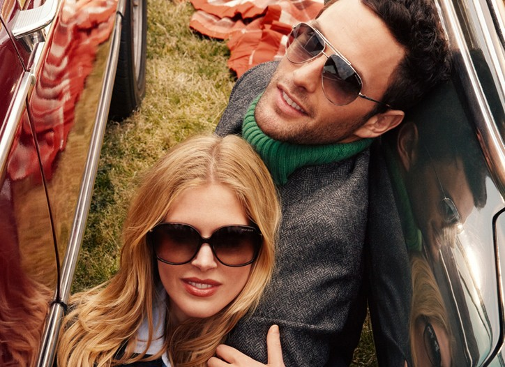 An ad from Tommy Hilfiger's eyewear collection by Safilo Group.