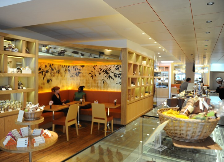 The interior of William Curley Patissier Chocolatier.