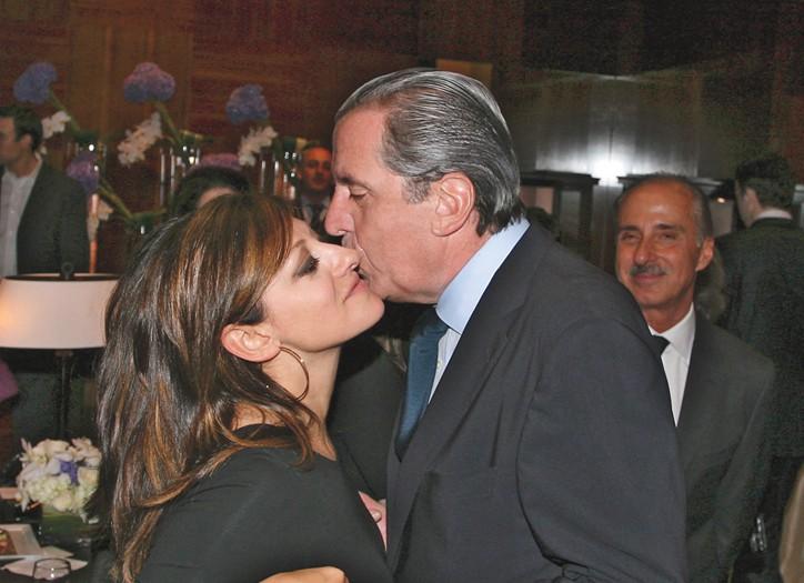 Maria Bartiromo and Henri Barguirdjian, ceo of Graff USA.