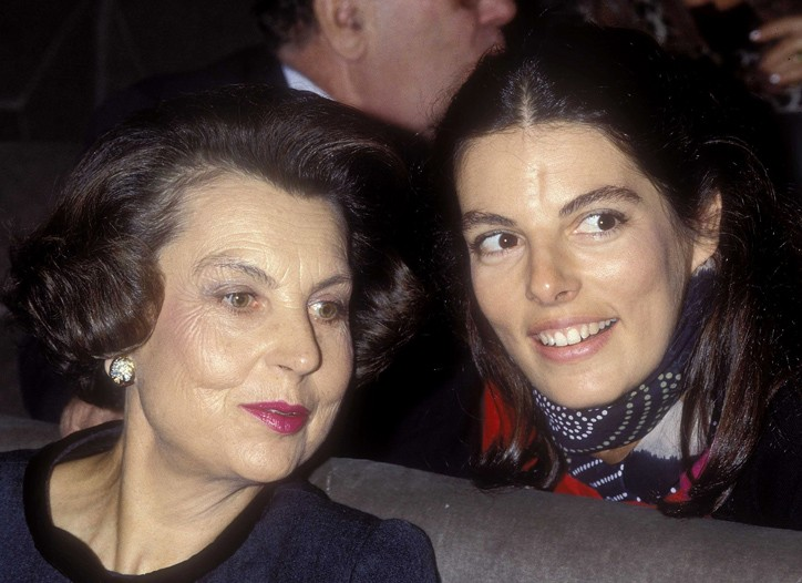 Liliane Bettencourt and her daughter, Françoise, in 1988.