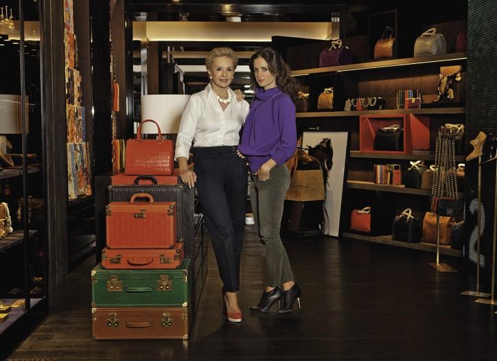 Carolina Herrera with her daughter, Carolina Herrera Baez, in the new store.