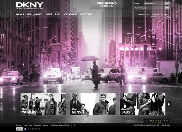 """Screen captures from Donna Karan International's new Web site, including the """"Women Who Inspire"""" page"""