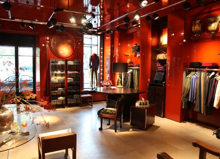 A view of the Dries Van Noten men's store.