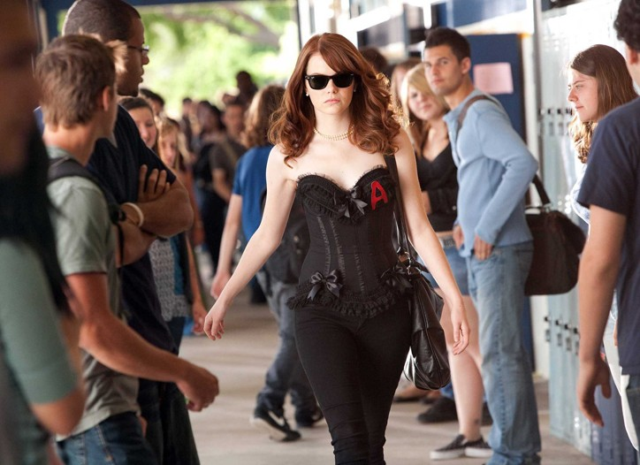 Emma Stone as 'Olive Penderghast' in EASY A.