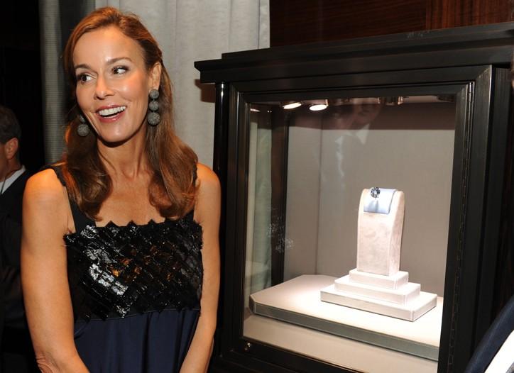 Julia Koch in Bottega Veneta with the 31-carat Wittelsbach-Graff diamond.