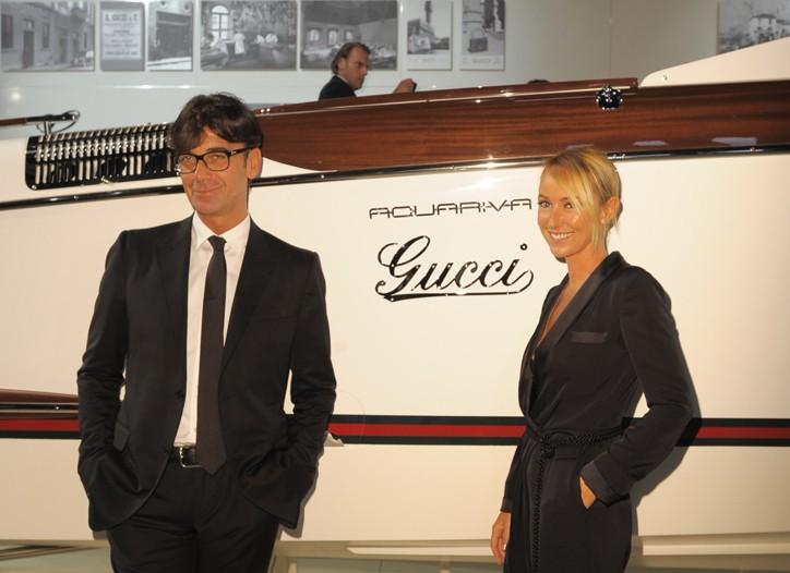 Patrizio Di Marco and Frida Giannini.