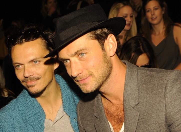 Jude Law and Matthew Williamson