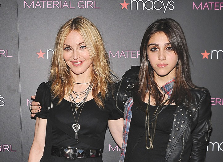 Madonna and her daughter, Lourdes.