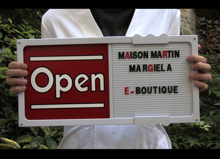 A screenshot of Maison Martin Margiela's soon-to-be-launched e-boutique.