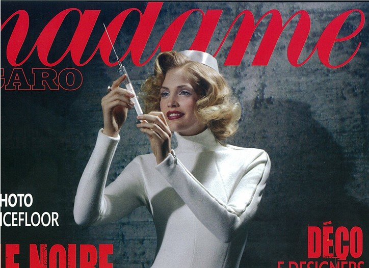 The cover of Madame Figaro guest-edited by Karl Lagerfeld.