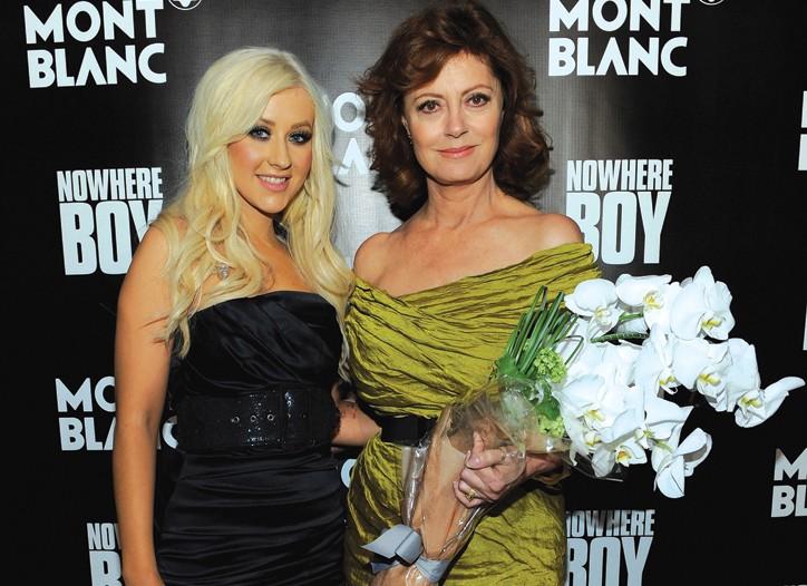 Christina Aguilera and Susan Sarandon