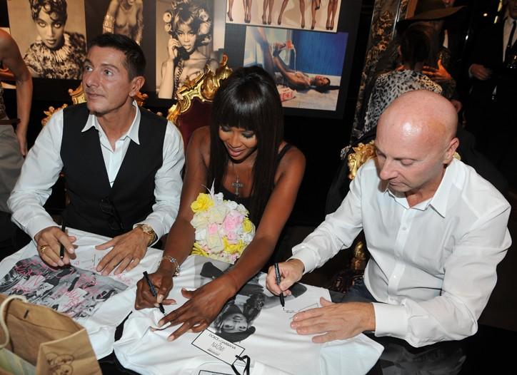 Stefano Gabbana, Naomi Campbell and Domenico Dolce