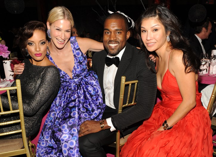 Selita Ebanks, Julie Macklowe, Kanye West and Mimi So