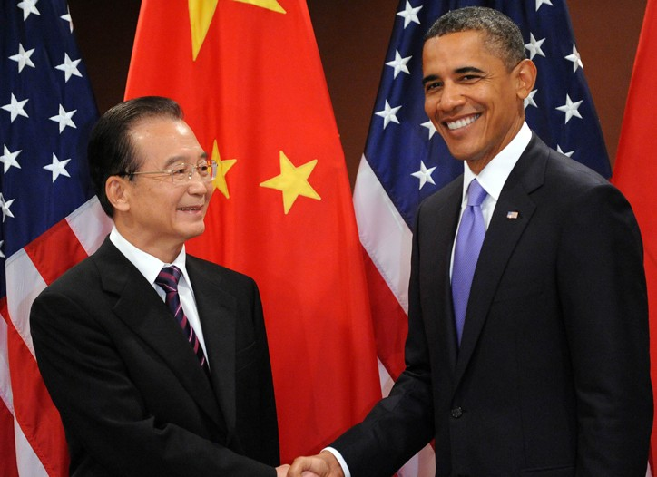 Chinese Premier Wen Jiabao and President Obama in New York on Thursday.