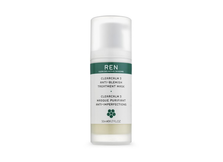 Ren's ClearCalm3 Anti-Blemish Treatment Mask.