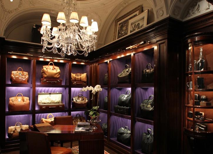 Inside Ralph Lauren men's store in the Rhinelander Mansion.