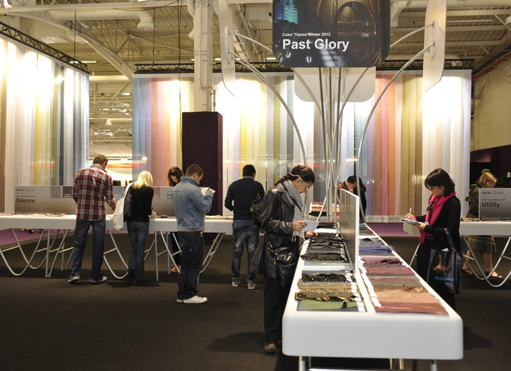 The trends section at the Texworld fair in Paris.