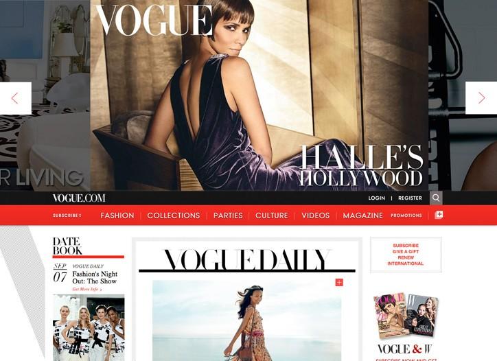 The revamped vogue.com.