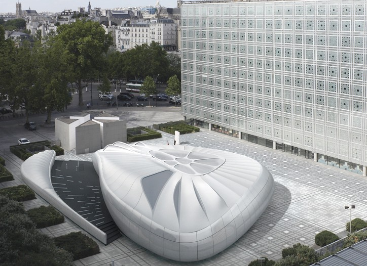 Rendering of  Zaha Hadid's pavilion for Chanel