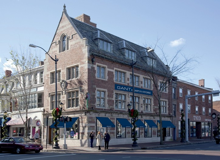 The new Gant store, with renderings of its signage.