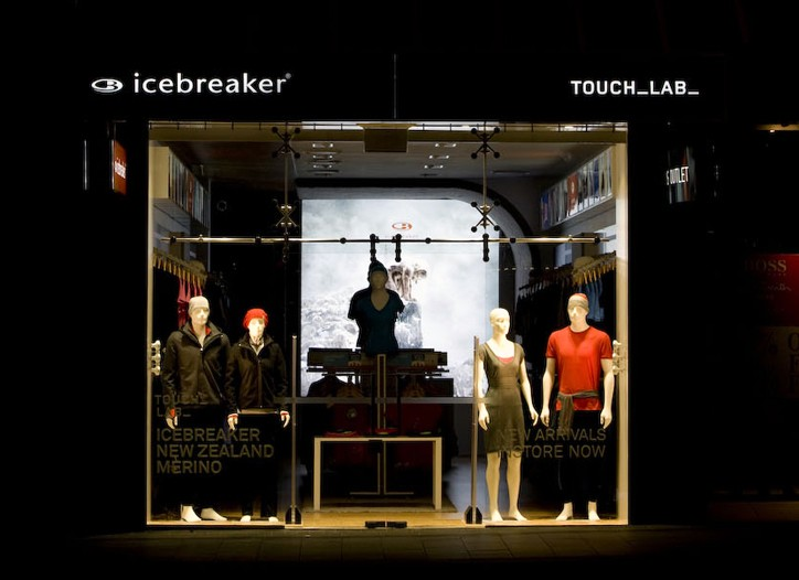 An Icebreaker Touch_Lab in Auckland, New Zealand.