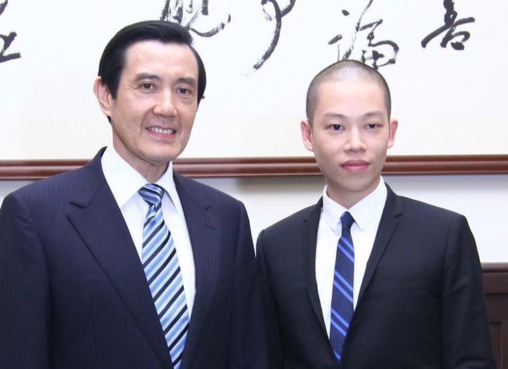 Taiwanese president Ma Ying-jeou and Jason Wu.