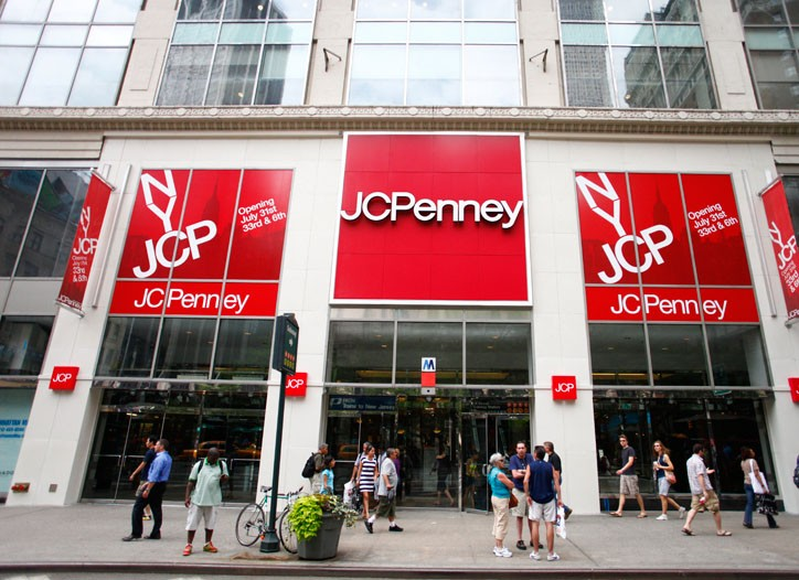 J.C. Penney's storefront.